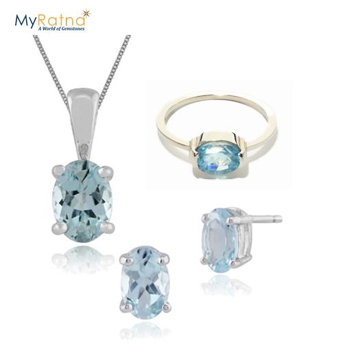 March Birthstone Jewelry Set