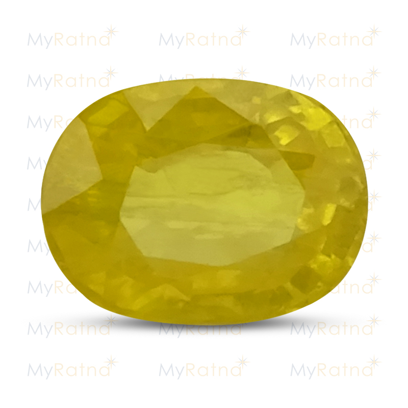 Certified Natural Yellow Sapphire 5.63 Ct (Bangkok) - Prime - MyRatna