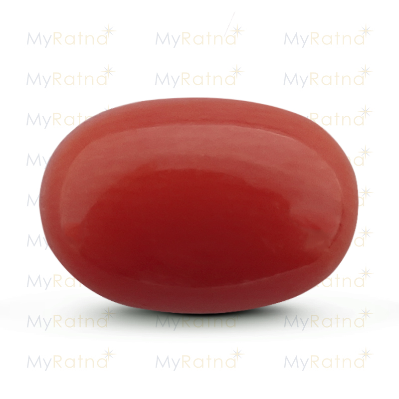 Certified Natural Red Coral 3.03 Ct (Italy) - Limited - MyRatna