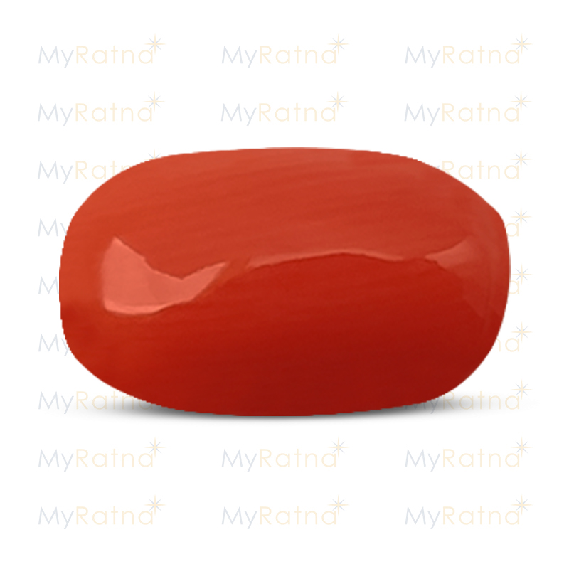 Certified Natural Red Coral 5.3 Ct (Italy) - Limited - MyRatna