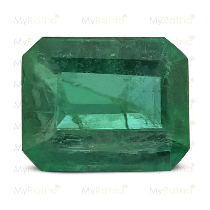 Certified Natural Emerald 3.54 Ct (Zambia) - Prime - MyRatna
