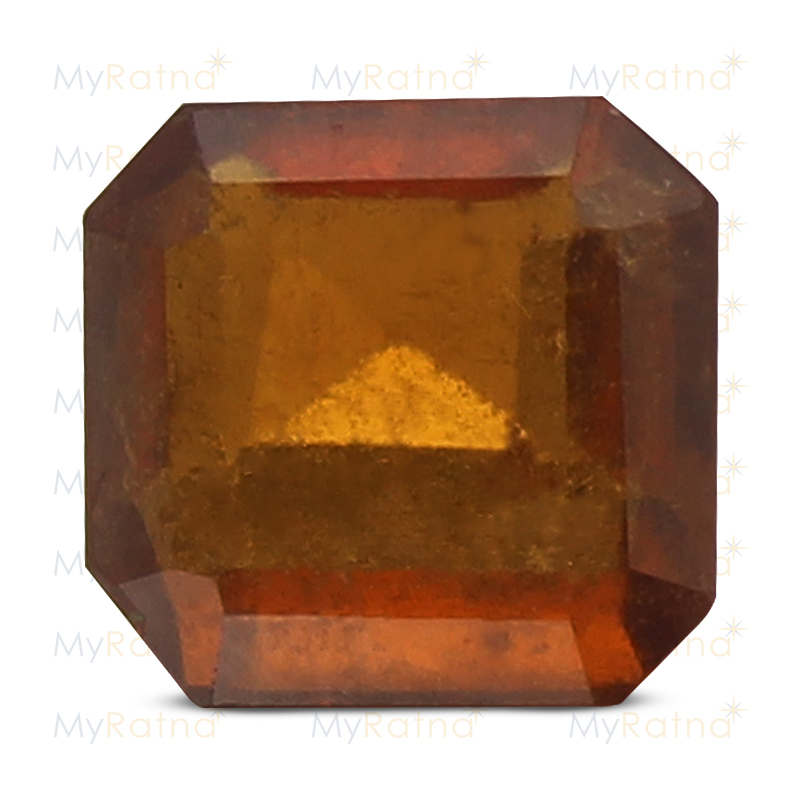 Certified Natural Hessonite Garnet 3.8 Ct (Africa) - Prime - MyRatna