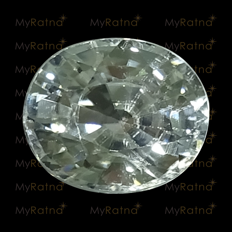 White Zircon - NZ 17003 (Origin - Ceylon) Limited - Quality  - MyRatna