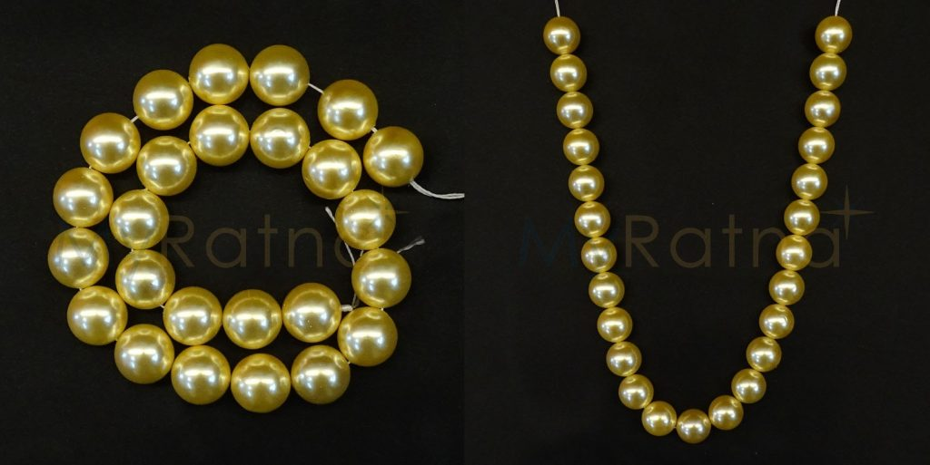 Exclusive Golden Color Love Pearl String