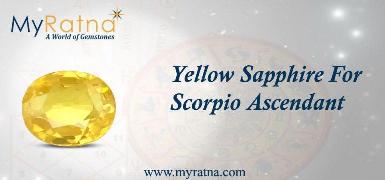 Yellow Sapphire for Scorpio Ascendant