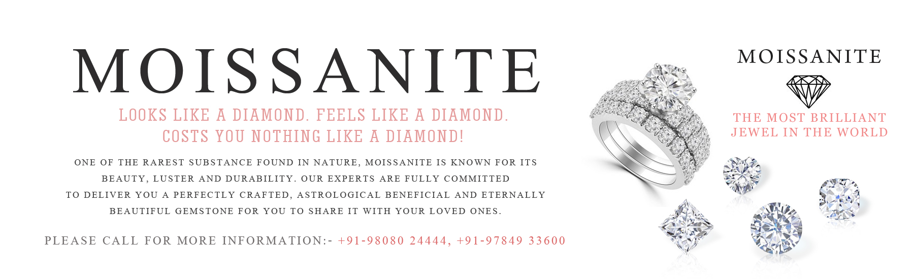 Buy Moissanite Gemstone Online in India