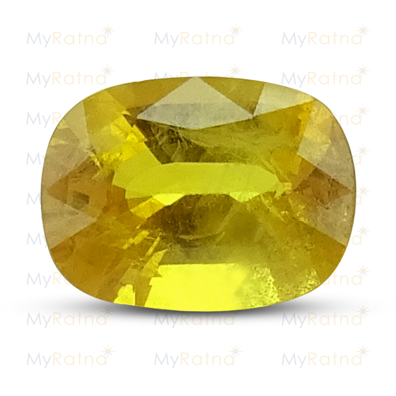 Certified Natural Yellow Sapphire 6.2 Ct (Bangkok) - Prime - MyRatna