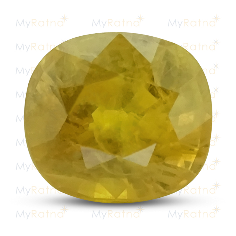 Certified Natural Yellow Sapphire 6.4 Ct (Bangkok) - Prime - MyRatna