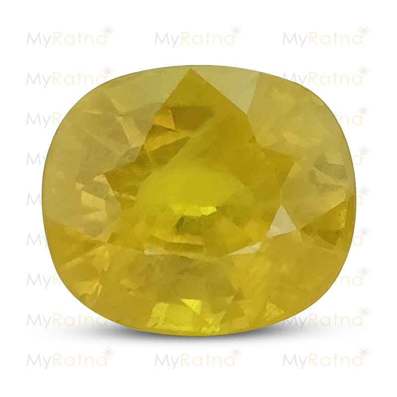 Certified Natural Yellow Sapphire 6.63 Ct (Bangkok) - Prime - MyRatna