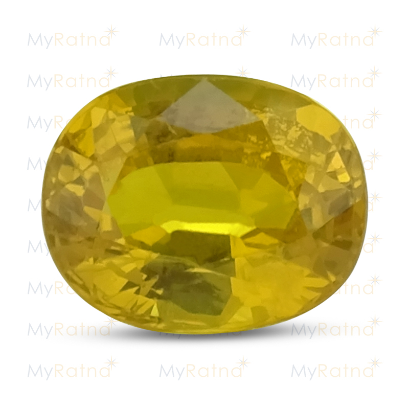 Certified Natural Yellow Sapphire 4.29 Ct (Bangkok) - Prime - MyRatna