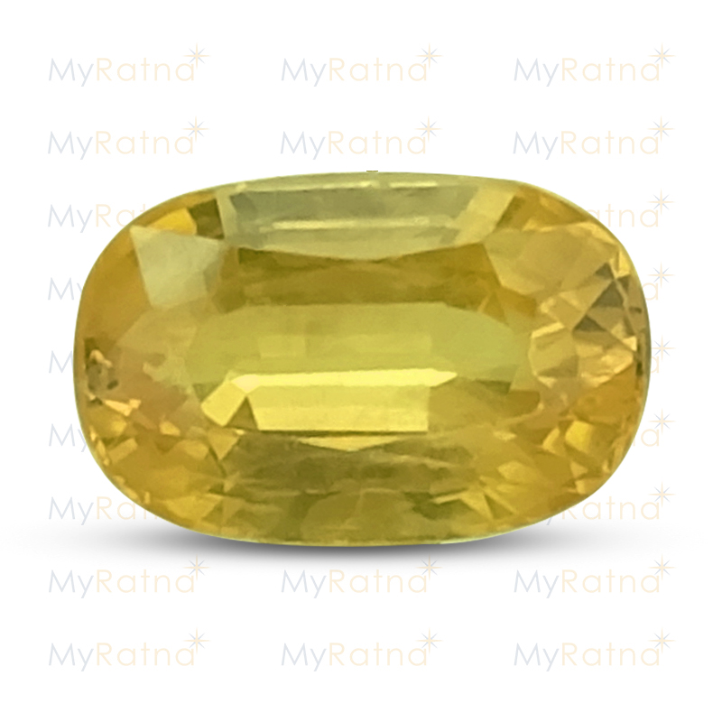 Certified Natural Yellow Sapphire 3.34 Ct (Bangkok) - Prime - MyRatna