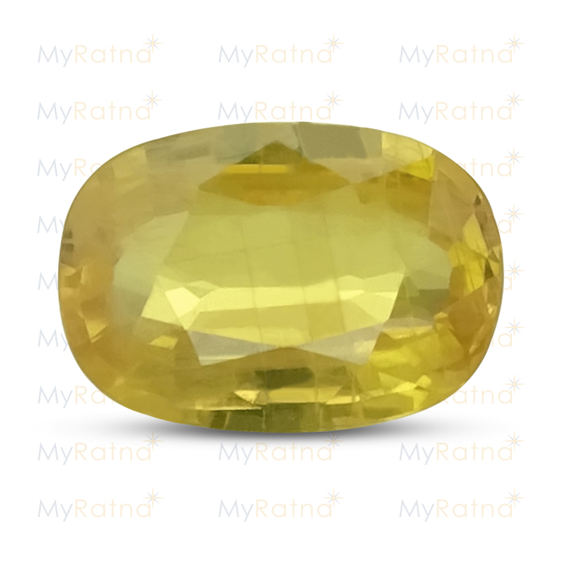 Certified Natural Yellow Sapphire 3.58 Ct (Bangkok) - Prime - MyRatna