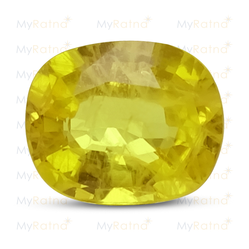 Certified Natural Yellow Sapphire 3.68 Ct (Bangkok) - Prime - MyRatna