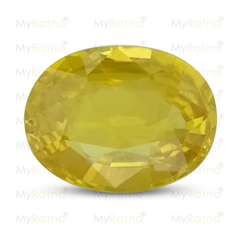 Certified Natural Yellow Sapphire 3.31 Ct (Bangkok) - Prime - MyRatna
