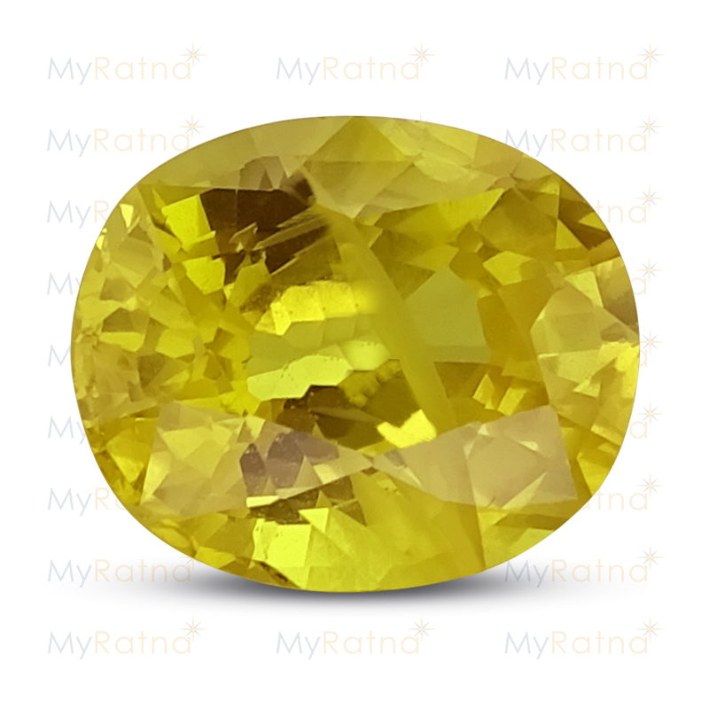 Certified Natural Yellow Sapphire 3.43 Ct (Bangkok) - Prime - MyRatna