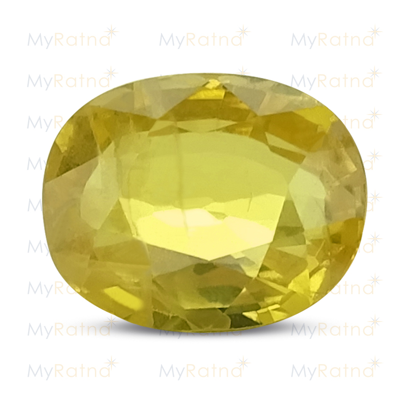 Certified Natural Yellow Sapphire 3.61 Ct (Bangkok) - Prime - MyRatna