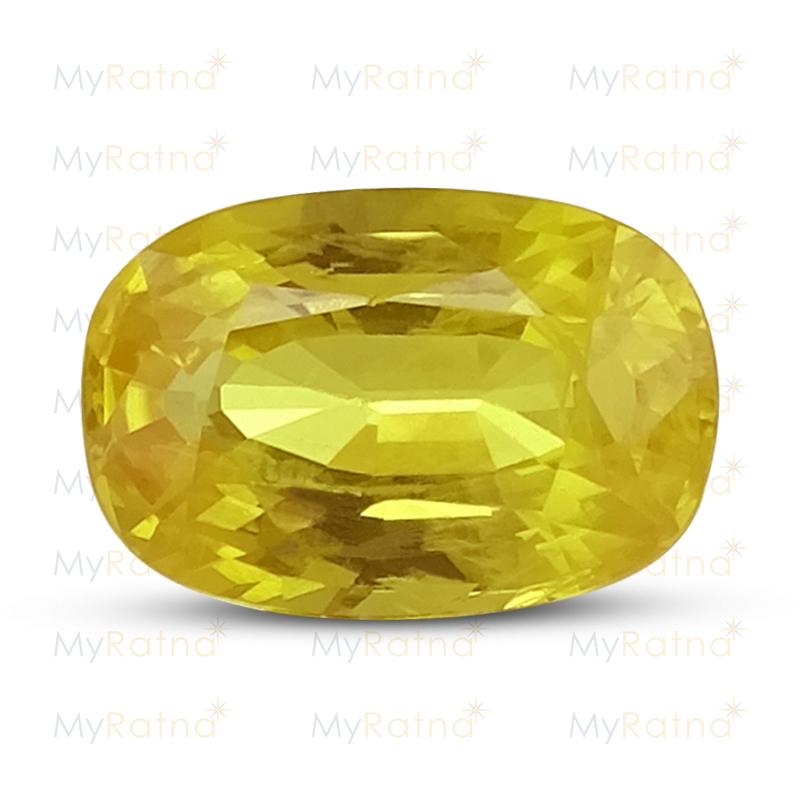 Certified Natural Yellow Sapphire 3.15 Ct (Bangkok) - Prime - MyRatna