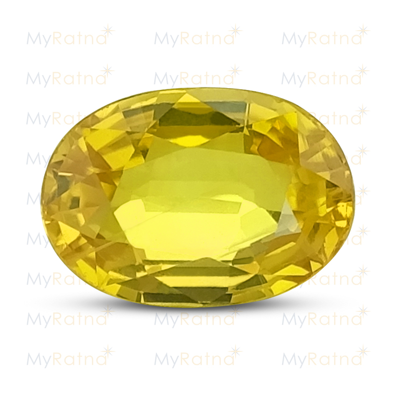 Certified Natural Yellow Sapphire 2.54 Ct (Bangkok) - Prime - MyRatna