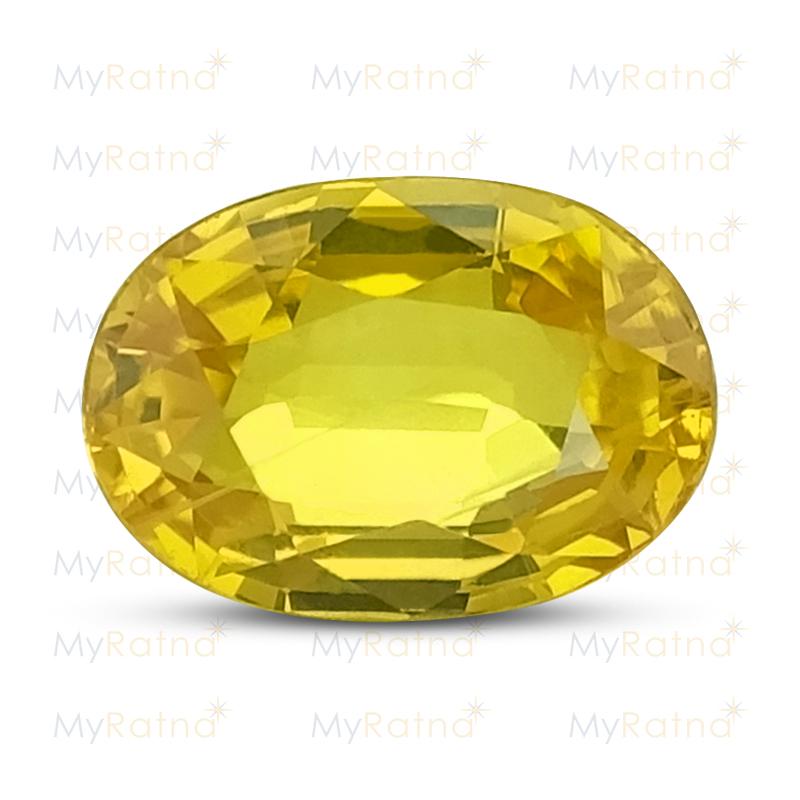 Certified Natural Yellow Sapphire 2.54 Ct (Bangkok) - Prime - MyRatna