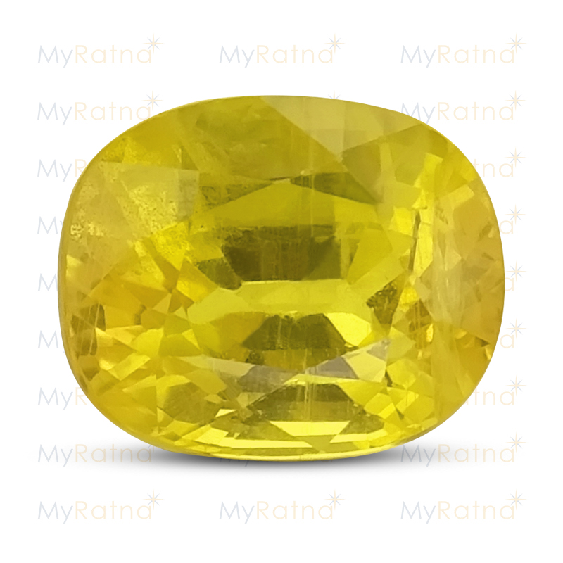 Certified Natural Yellow Sapphire 3.3 Ct (Bangkok) - Fine - MyRatna