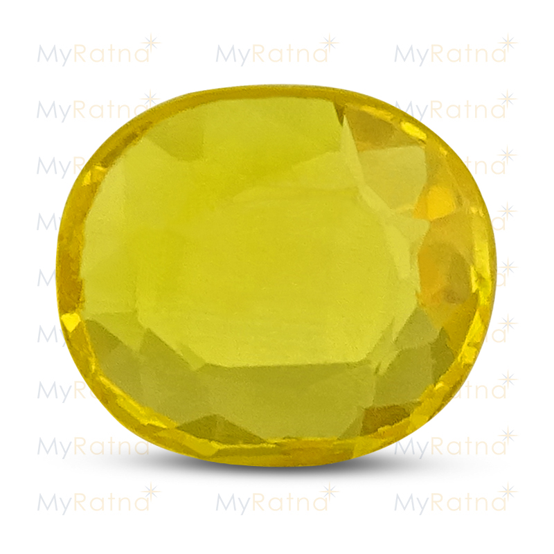 Certified Natural Yellow Sapphire 3.1 Ct (Bangkok) - Prime - MyRatna