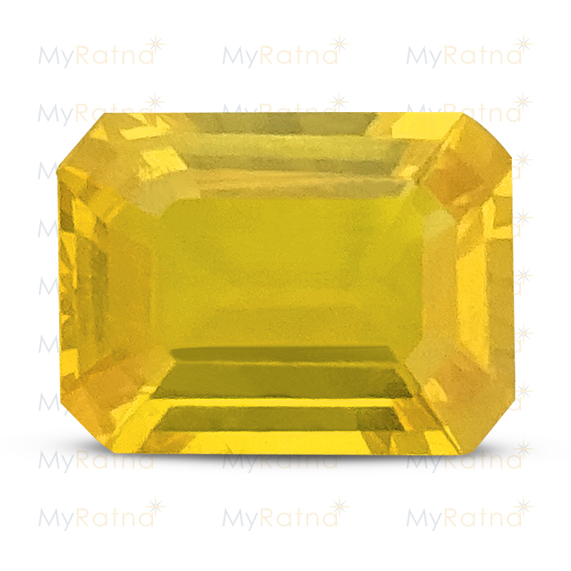 Certified Natural Yellow Sapphire 3.72 Ct (Bangkok) - Limited - MyRatna