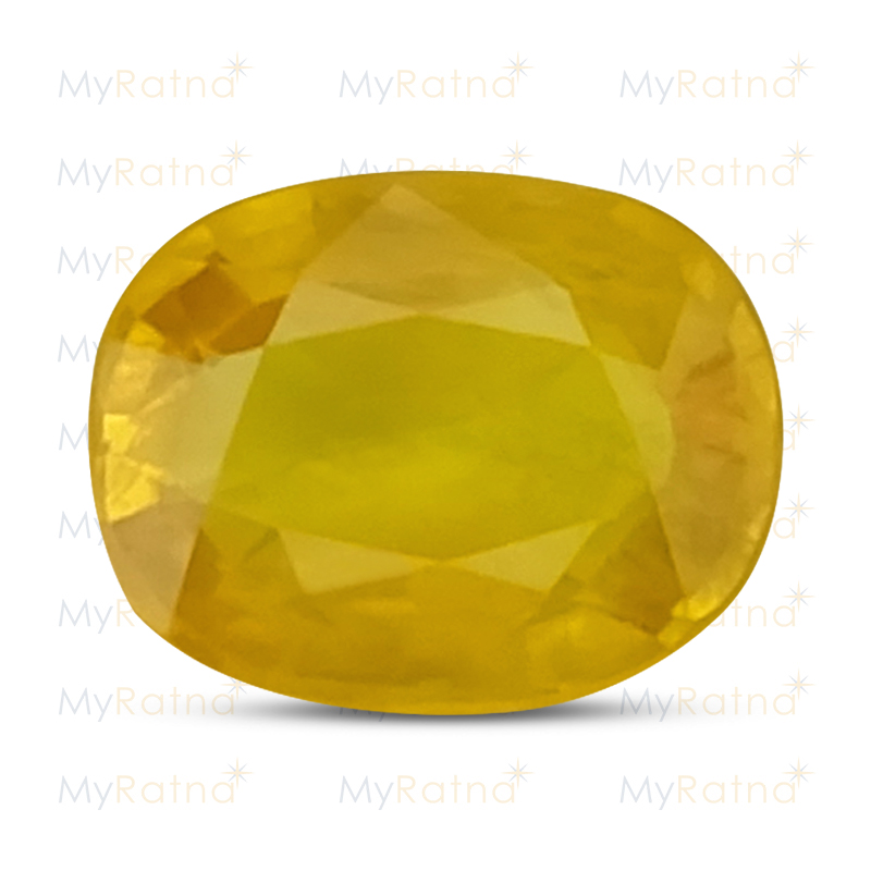 Certified Natural Yellow Sapphire 6.12 Ct (Bangkok) - Prime - MyRatna
