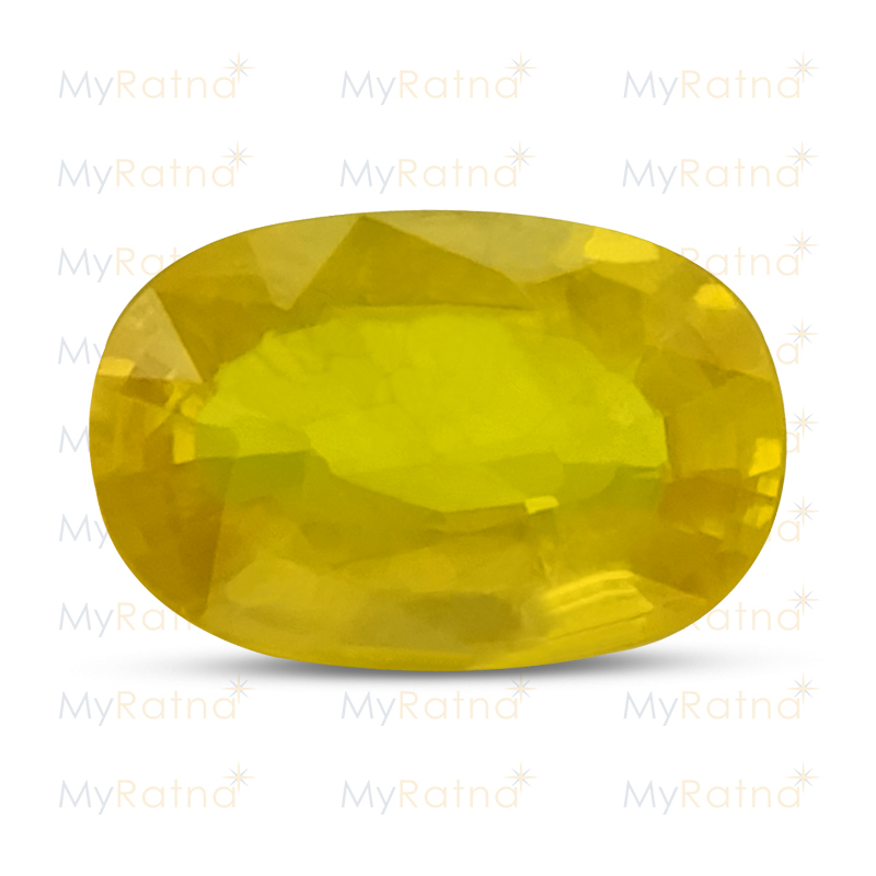 Certified Natural Yellow Sapphire 3.99 Ct (Bangkok) - Prime - MyRatna