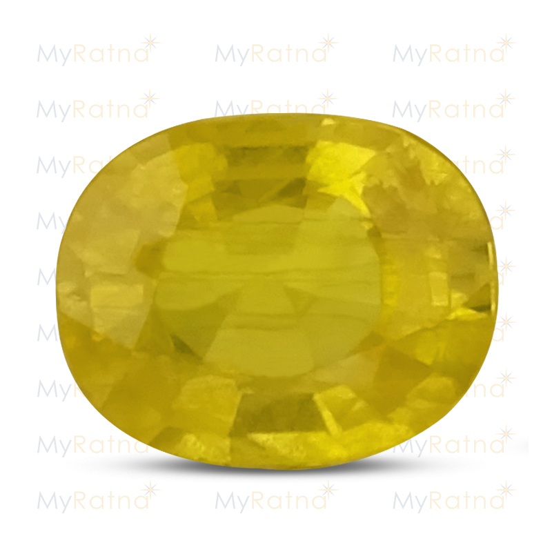 Certified Natural Yellow Sapphire 4.2 Ct (Bangkok) - Prime - MyRatna