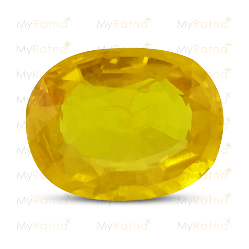 Certified Natural Yellow Sapphire 3.79 Ct (Bangkok) - Prime - MyRatna