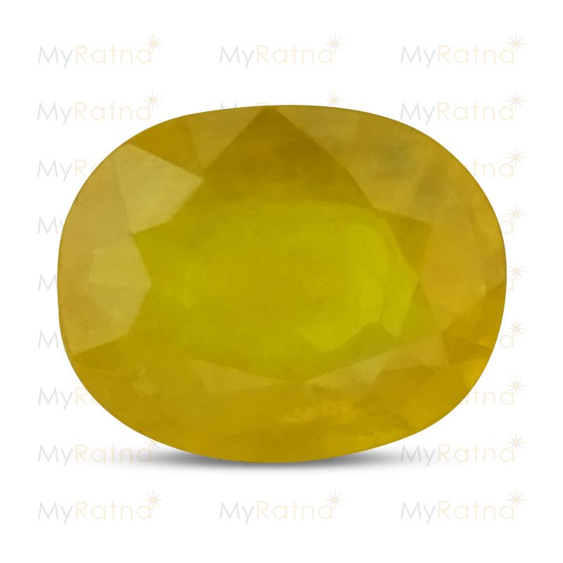 Certified Natural Yellow Sapphire 3.84 Ct (Bangkok) - Fine - MyRatna