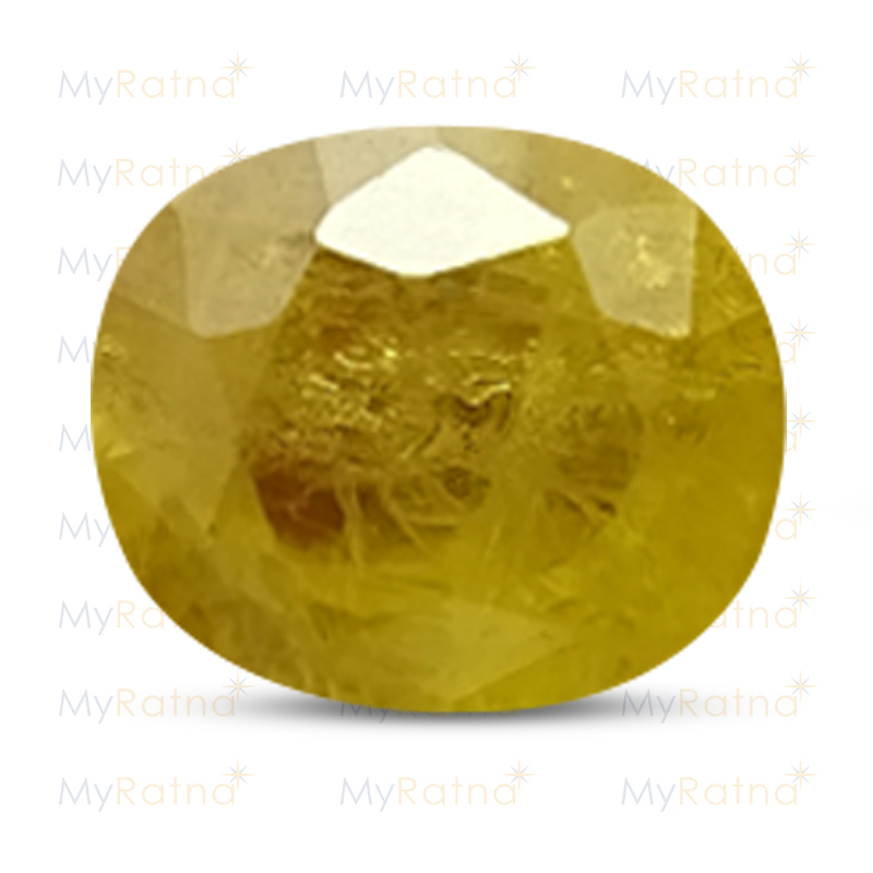 Certified Natural Yellow Sapphire 4.96 Ct (Bangkok) - Fine - MyRatna