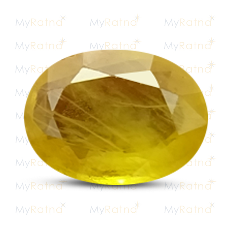 Certified Natural Yellow Sapphire 3.77 Ct (Bangkok) - Fine - MyRatna
