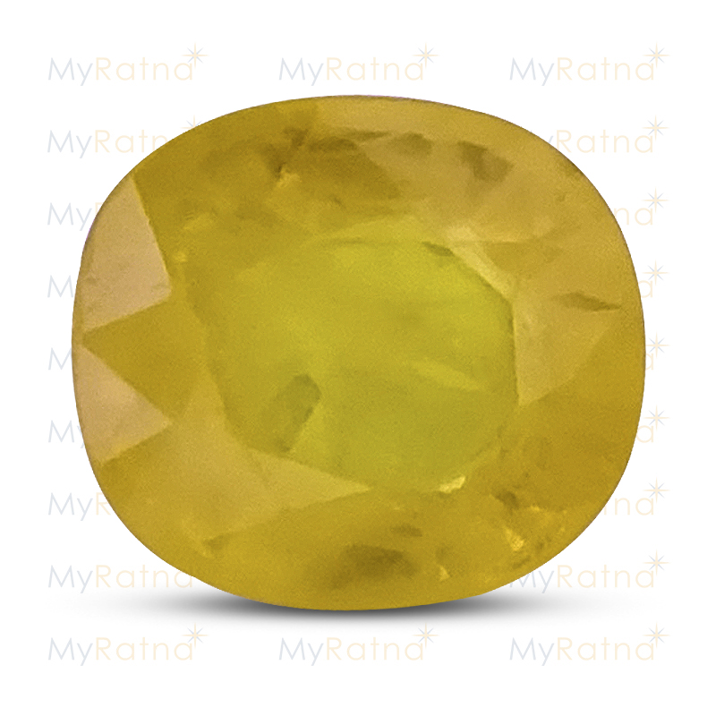 Certified Natural Yellow Sapphire 3.29 Ct (Bangkok) - Fine - MyRatna