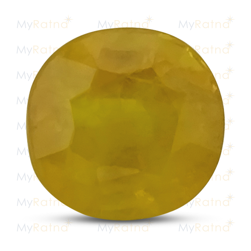 Certified Natural Yellow Sapphire 3.99 Ct (Bangkok) - Fine - MyRatna