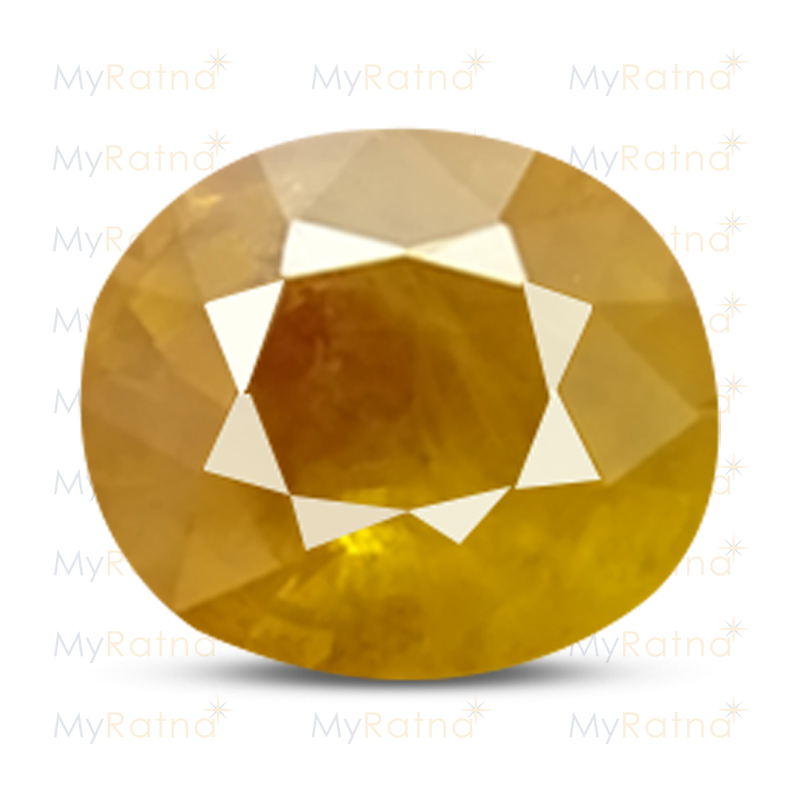 Certified Natural Yellow Sapphire 3.68 Ct (Bangkok) - Fine - MyRatna