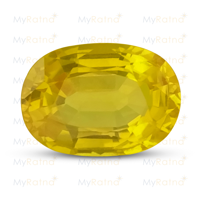 Certified Natural Yellow Sapphire 3.8 Ct (Bangkok) - Limited - MyRatna