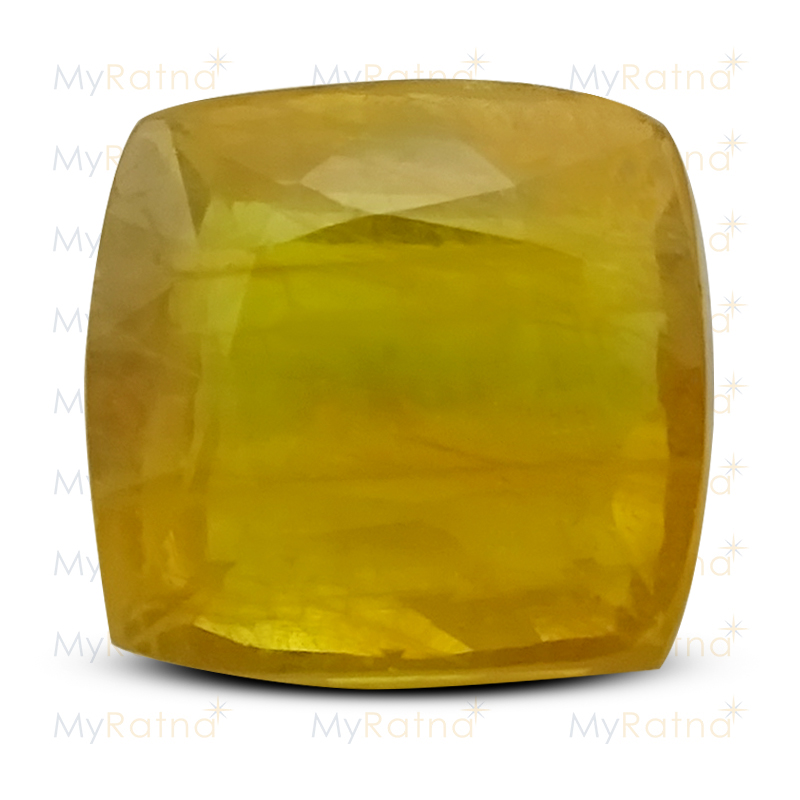 Certified Natural Yellow Sapphire 6.97 Ct (Bangkok) - Fine - MyRatna