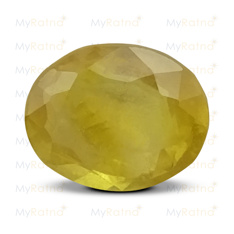 Certified Natural Yellow Sapphire 5.42 Ct (Bangkok) - Fine - MyRatna