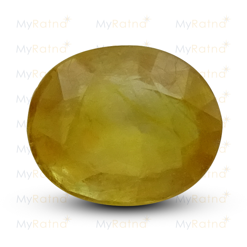 Certified Natural Yellow Sapphire 6.34 Ct (Bangkok) - Fine - MyRatna