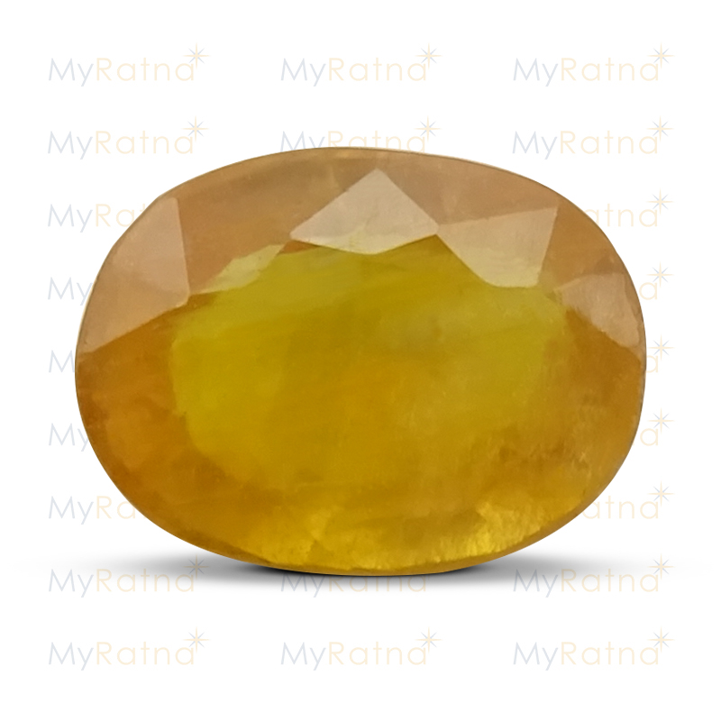 Certified Natural Yellow Sapphire 5.13 Ct (Bangkok) - Fine - MyRatna