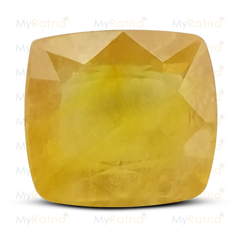 Certified Natural Yellow Sapphire 5.46 Ct (Bangkok) - Fine - MyRatna