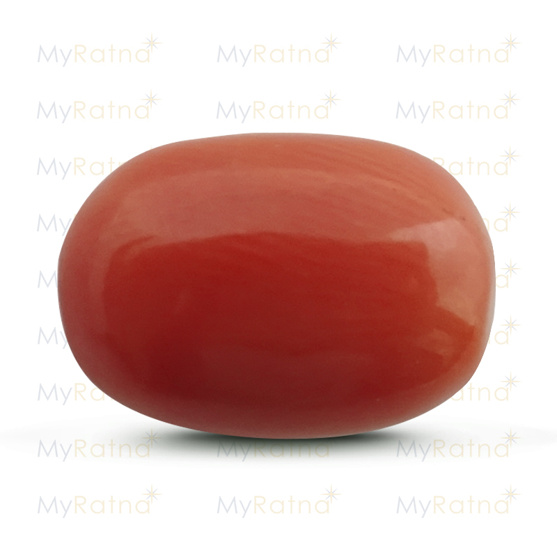 Certified Natural Red Coral 9.59 Ct (Italy) - Limited - MyRatna