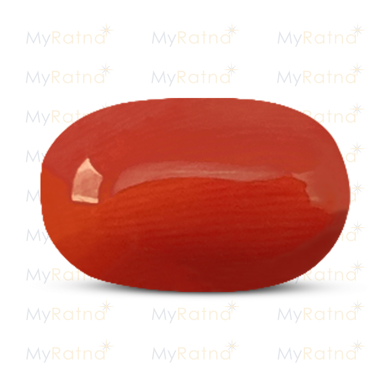 Certified Natural Red Coral 4.99 Ct (Italy) - Limited - MyRatna