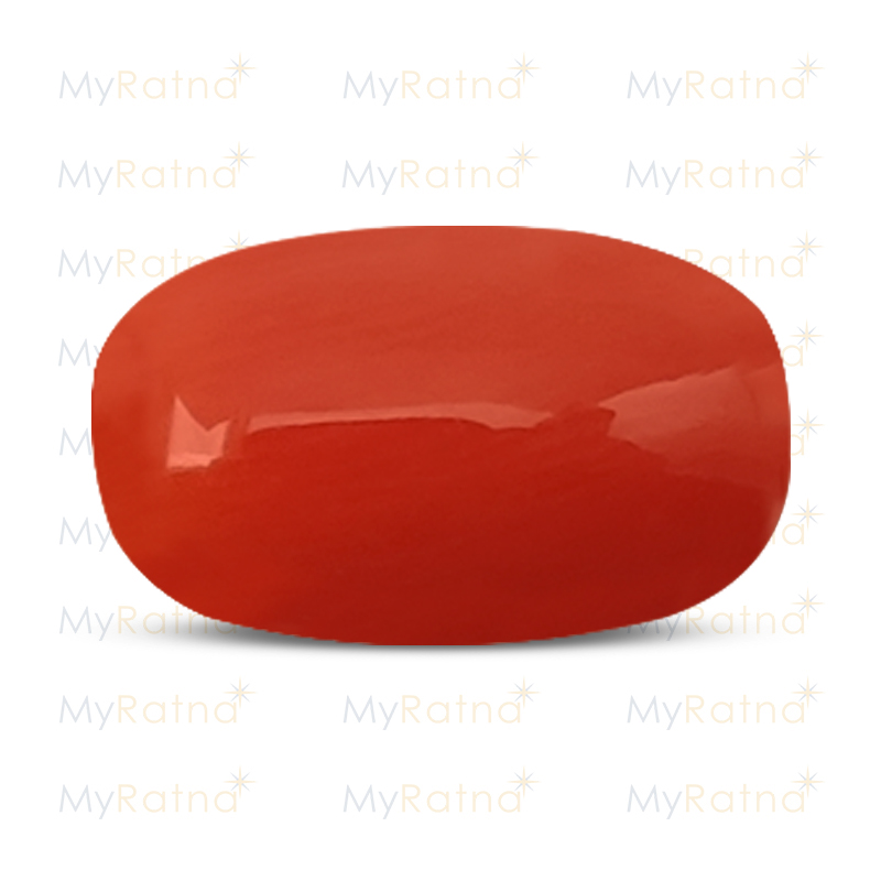 Certified Natural Red Coral 5.07 Ct (Italy) - Limited - MyRatna