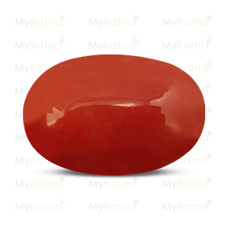 Certified Natural Red Coral 4.96 Ct (Italy) - Limited - MyRatna