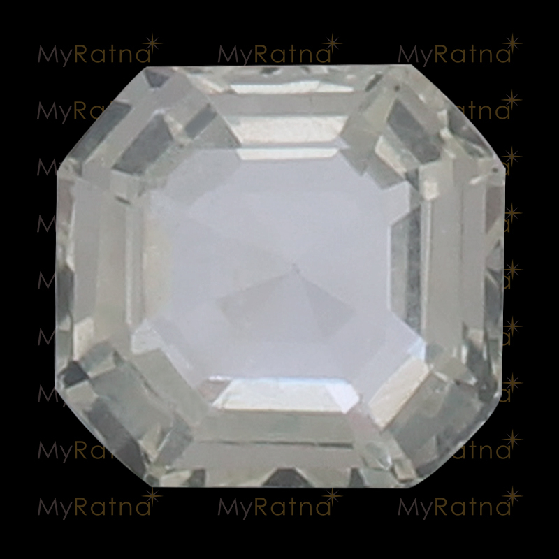 Natural White Sapphire (Pukhraj) Gemstone 3.67 Ct (Ceylon) - Limited - MyRatna
