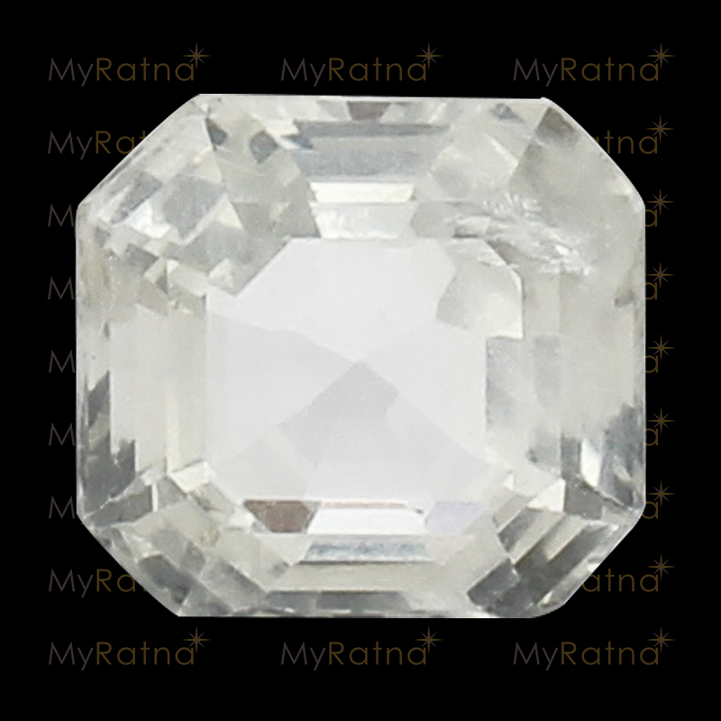 Natural White Sapphire (Pukhraj) Gemstone 4.66 Ct (Ceylon) - Limited - MyRatna