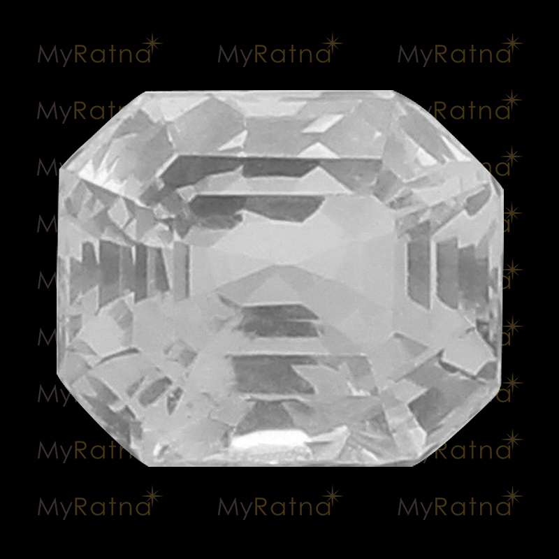 Natural White Sapphire (Pukhraj) Gemstone 5.13 Ct (Ceylon) - Limited - MyRatna