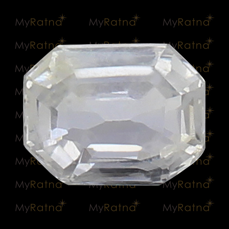 Natural White Sapphire (Pukhraj) Gemstone 3.27 Ct (Ceylon) - Limited - MyRatna